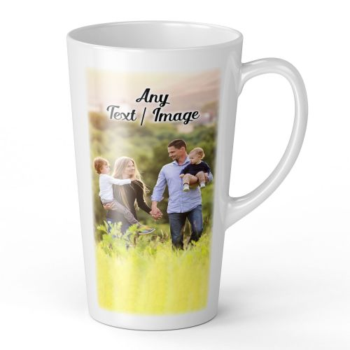 17oz Personalised Any Text / Image Novelty Gift Latte Mug